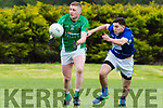 Seamus Dowd Milltown/Castlemaine goes around Ryan Keane Laune Rangers during their Intermediate clash in Milltown on Sunday