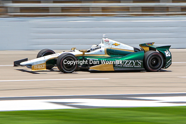 Ed Carpenter (20) driver for Ed Carpenter Racing in action during qualifying for the IZOD Indycar Firestone 550 race at Texas Motor Speedway in Fort Worth,Texas.