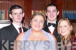 PARTNERS: Partners at the Presentation Debs at the Abbey Gate, Hotel, Tralee, on Friday night. L-R: James O'Sullivan, Margaret Lyne, Ivan Lucid and Helen Brennan..