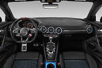Stock photo of straight dashboard view of a 2019 Audi TT RS Base 3 Door Coupe