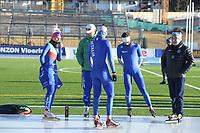 SPEED SKATING: COLLALBO: Arena Ritten, 10-01-2019, ISU European Speed Skating Championships, Francesca Lollobrigida (ITA), Matteo Anesi (Trainer/coach), ©photo Martin de Jong