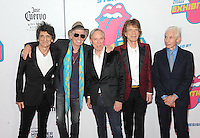 NEW YORK, NY - NOVEMBER 15:  Ronnie Wood, Keith Richards,  Tommy Hilfiger, Mick Jagger and Charlie Watts  attend The Rolling Stones Exhibitionism opening night at Industria Superstudio on November 15, 2016 in New York City. Photo by John Palmer MediaPunch