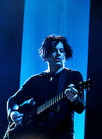 "Jack White does a special performance at Webster Hall filmed for ""American Express Unstaged"" which was directed by Gary Oldman on April 27, 2012.  Credit: Jen Maler/MediaPunch Inc."