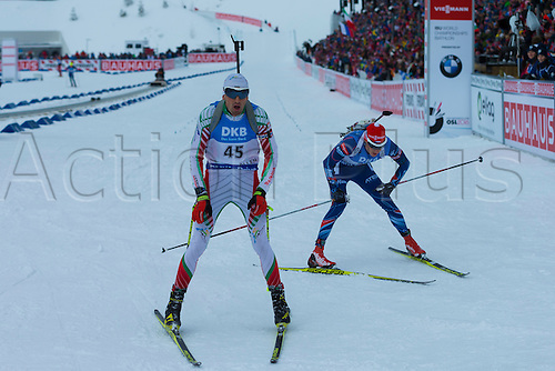 05.03.2016. Oslo Holmenkollen, Oslo, Norway. IBU Biathlon World Championships. Vladimir Iliev of Bulgaria  competes in the men 10km sprint competition during the IBU World Championships Biathlon in Holmenkollen Oslo, Norway.