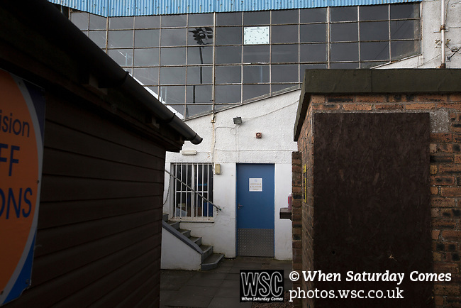 Forfar Athletic 1 Edinburgh City 2, 02/02/2017. Station Park, SPFL League 2. An interior view of the main stand at Station Park, pictured before Forfar Athletic took on Edinburgh City in an SPFL League 2 fixture. It was the club's sixth and final meeting of City's inaugural season since promotion from the Lowland League the previous season. City came from behind to win this match 2-1, watched by a crowd of 446. Photo by Colin McPherson.