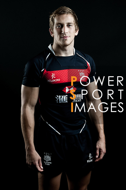Tom McQueen poses during the Hong Kong 7's Squads Portraits on 5 March 2012 at the King's Park Sport Ground in Hong Kong. Photo by Andy Jones / The Power of Sport Images for HKRFU