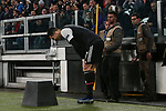 Cristiano Ronaldo of Juventus holds his leg after kicking the corner flag during the UEFA Champions League match at Juventus Stadium, Turin. Picture date: 26th November 2019. Picture credit should read: Jonathan Moscrop/Sportimage