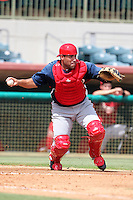 Washington Nationals catcher Sandy Leon #45 during an Instructional League game against the Houston Astros at Osceola County Stadium on September 26, 2011 in Kissimmee, Florida.  (Mike Janes/Four Seam Images)