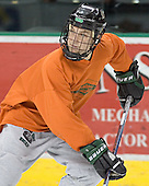 Robbie Bina - The University of North Dakota Fighting Sioux took part in the morning skate on Saturday, December 10, 2005, at Ralph Engelstad Arena in Grand Forks, North Dakota.