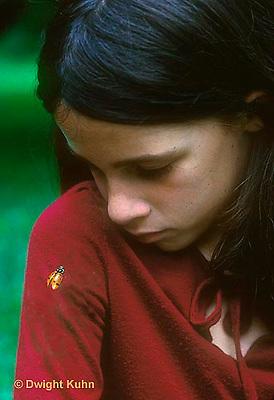 1C34-001z  Ladybug on child's arm
