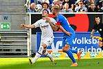 07.10.2018, wirsol Rhein-Neckar-Arena, Sinsheim, GER, 1 FBL, TSG 1899 Hoffenheim vs Eintracht Frankfurt, <br /> <br /> DFL REGULATIONS PROHIBIT ANY USE OF PHOTOGRAPHS AS IMAGE SEQUENCES AND/OR QUASI-VIDEO.<br /> <br /> im Bild: Luka Jovic (Eintracht Frankfurt #8) gegen Kevin Vogt (TSG Hoffenheim #22)<br /> <br /> Foto &copy; nordphoto / Fabisch