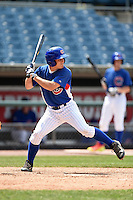 Jake Barnwell (13) of Boyd County High School in Catlettsburg, KY playing for the Chicago Cubs scout team during the East Coast Pro Showcase on August 2, 2014 at NBT Bank Stadium in Syracuse, New York.  (Mike Janes/Four Seam Images)