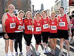 David Bradley, Clodagh Fitzharris, Anne Leonard, Evelyn Curran, Erin, Kerry and Shane McHugh who took part in the Saint Vincent de Paul sponsored 5Km run. Photo: Colin Bell/pressphotos.ie