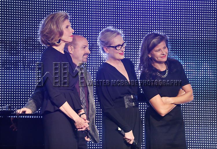Christine Baranski, David Crane, Meryl Streep and Tracey Ullman present Rob Marshall with the New York Apple Award during the 30th Annual Artios Awards Presentation at 42 WEST on January 22, 2015 in New York City.