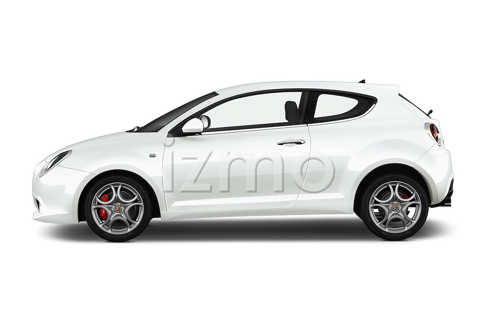 Car Driver side profile view of a 2015 Alfaromeo Mito 600H-L-President-Line 4 Door Sedan Side View