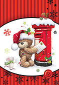 Sharon, CHRISTMAS ANIMALS, WEIHNACHTEN TIERE, NAVIDAD ANIMALES, GBSS, paintings+++++,GBSSC50XMCA,#XA#