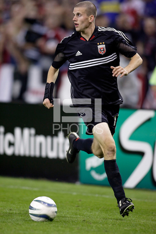 D.C. United's Joshua Gros. DC United defeated the New England Revolution 4 to 3 in a shoot out after overtime ended in a 3 all tie during the MLS Eastern Conference Championship at RFK Stadium, Washington, D.C., on Saturday, November 6, 2004..