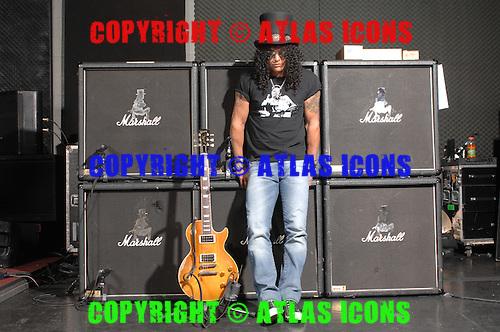 SLASH: Guitarist of Guns N Roses: .In Los Angelas, .Photo Credit: Eddie Malluk/Atlas Icons.com