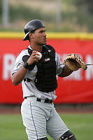 July 8 2009: Jose Gonzalez of the Tri City Dust Devils before game against the Salem-Kaizer Volcanoes at Volcano  Stadium in Kaizer,OR.  Photo by Larry Goren/Four Seam Images