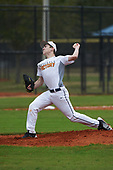 Alex Brown (3) of Osoburn, Virginia during the Baseball Factory All-America Pre-Season Rookie Tournament, powered by Under Armour, on January 13, 2018 at Lake Myrtle Sports Complex in Auburndale, Florida.  (Michael Johnson/Four Seam Images)