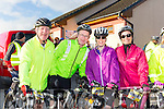 Jerry Carmody, Robert Stack, Edwina Scanlon, Tracey O'Flaherty at  the Pieta House cycle in Rathmore on Sunday