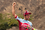 A delighted Nathan Haas (AUS) Team Katusha-Alpecin wins Stage 2 of the 2018 Tour of Oman running 167.5km from Sultan Qaboos University to Al Bustan. 14th February 2018.<br /> Picture: ASO/Muscat Municipality/Kare Dehlie Thorstad | Cyclefile<br /> <br /> <br /> All photos usage must carry mandatory copyright credit (&copy; Cyclefile | ASO/Muscat Municipality/Kare Dehlie Thorstad)