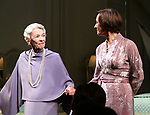 """Glenda Jackson and Laurie Metcalf during the Opening Night Curtain Call for """"Three Tall Women"""" at the Golden Theatre on 3/29/2018 in New York City."""