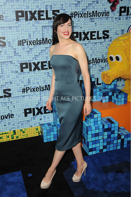 WWW.ACEPIXS.COM<br /> July 18, 2015 New York City<br /> <br /> Lena Hall attending the 'Pixels' Premiere at Regal E-Walk on July 18, 2015 in New York City.<br /> <br /> Please byline: Kristin Callahan/ACE <br /> <br /> <br /> Tel: (646) 769 0430<br /> e-mail: info@acepixs.com<br /> web: http://www.acepixs.com