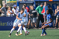Allston, MA - Saturday August 19, 2017: Camila Martins Pereira, Camille Levin, Ifeoma Onumonu during a regular season National Women's Soccer League (NWSL) match between the Boston Breakers and the Orlando Pride at Jordan Field.
