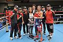Takuya Kogawa,.JANUARY 26, 2012 - Boxing :.Takuya Kogawa celebrates with his wife Momoko and son Riichi after winning the vacant Japanese flyweight title bout at Korakuen Hall in Tokyo, Japan. (Photo by Hiroaki Yamaguchi/AFLO)