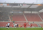 A snow blizzard hits the game between Middlesbrough's and Derby. during the Premier League match at the Riverside Stadium, Middlesbrough. Picture date 8th March 2008. Picture credit should read: Richard Lee/Sportimage