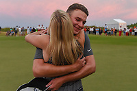 Andrew Wise (USA) gets a big hug from his girlfriend, Reagan  after winning the AT&T Byron Nelson, Trinity Forest Golf Club, at Dallas, Texas, USA. 5/20/2018.<br /> Picture: Golffile | Ken Murray<br /> <br /> All photo usage must carry mandatory copyright credit (© Golffile | Ken Murray)