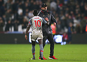 4th February 2019, London Stadium, London, England; EPL Premier League football, West Ham United versus Liverpool; A disappointed Liverpool Manager Jurgen Klopp shakes hands with Sadio Mane of Liverpool after the final whistle