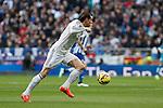 Real Madrid´s Gareth Bale during La Liga match at Santiago Bernabeu stadium in Madrid, Spain. February 14, 2015. (ALTERPHOTOS/Victor Blanco)