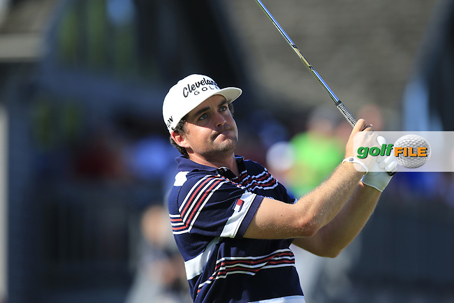 Keegan Bradley (USA) tees off the 17th tee during Saturday's Round 3 of the 2013 Bridgestone Invitational WGC tournament held at the Firestone Country Club, Akron, Ohio. 3rd August 2013.<br /> Picture: Eoin Clarke www.golffile.ie