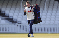 Dan Lawrence of Essex walks out ready to warm-up prior to Surrey CCC vs Essex CCC, Specsavers County Championship Division 1 Cricket at the Kia Oval on 14th April 2019