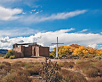 Santa Rosa Lima is an old Catholic church in Abiquiu, New Mexico.