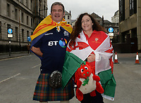 Wales and Scotland fans in good sprits prior to kick off <br /> <br /> Photographer Ian Cook/CameraSport<br /> <br /> Under Armour Series Autumn Internationals - Wales v Scotland - Saturday 3rd November 2018 - Principality Stadium - Cardiff<br /> <br /> World Copyright &copy; 2018 CameraSport. All rights reserved. 43 Linden Ave. Countesthorpe. Leicester. England. LE8 5PG - Tel: +44 (0) 116 277 4147 - admin@camerasport.com - www.camerasport.com