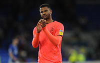 Huddersfield Town's Fraizer Campbell applauds the fans at the final whistle <br /> <br /> Photographer Ian Cook/CameraSport<br /> <br /> The EFL Sky Bet Championship - Cardiff City v Huddersfield Town - Wednesday August 21st 2019 - Cardiff City Stadium - Cardiff<br /> <br /> World Copyright © 2019 CameraSport. All rights reserved. 43 Linden Ave. Countesthorpe. Leicester. England. LE8 5PG - Tel: +44 (0) 116 277 4147 - admin@camerasport.com - www.camerasport.com