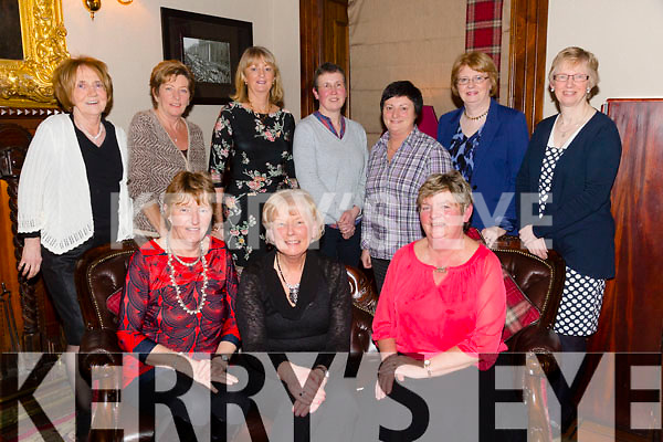 Ballybeggan Golf Committee dinner at the Grand Hotel on Friday.  Front l-r Mary Quillinan, Mona Coote (Lady Captain), Kathleen Burrows (Lady President).  Back l-r Mary O'Sullivan, Eleanor O'Dowd, Catherine Mitchell, Angela Enright, Ann O'Driscoll, Geraldine O'Connor, Phyllis Mason