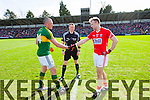 Kieran Donaghy Kerry in action against Michael Shields Cork in the National Football League at Pairc Ui Rinn on Sunday.