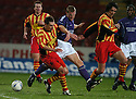 11/2/04          Copyright Pic : James Stewart.File Name : jspa16_partick_livvy.DEREK LILLEY IS FORCED OFF THE BALL BY PARTICK'S IAN ROSS AND GERRY BRITTON.....James Stewart Photo Agency 19 Carronlea Drive, Falkirk. FK2 8DN      Vat Reg No. 607 6932 25.Office     : +44 (0)1324 570906     .Mobile  : +44 (0)7721 416997.Fax         :  +44 (0)1324 570906.E-mail  :  jim@jspa.co.uk.If you require further information then contact Jim Stewart on any of the numbers above.........