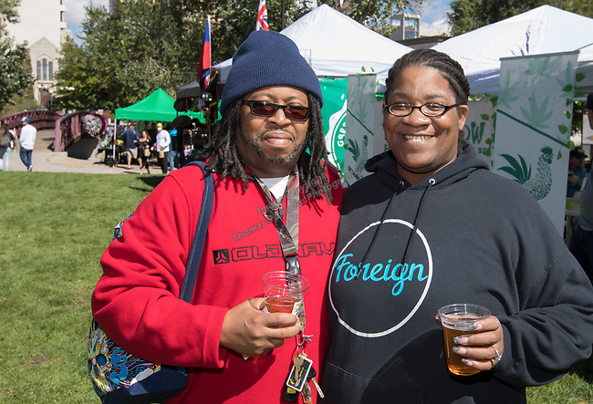 Reggie and Cydney during the inaugural Bud and Brew Music Festival in Wingfield Park in downtown Reno on Saturday, Sept. 23, 2017.