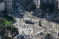 RIO DE JANEIRO, RJ, 31 JULHO 2012 - VISTA AEREA DO CENTRO DO RIO- Vista aerea do Largo da Carioca,nesta terca-feira, dia 31, no centro do rio.(FOTO:MARCELO FONSECA / BRAZIL PHOTO PRESS).