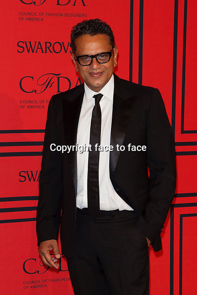 NEW YORK, NY - JUNE 3: Naeem Kahn at the 2013 CFDA Fashion Awards at Lincoln Center's Alice Tully Hall in New York City. June 3, 2013. <br /> Credit: MediaPunch/face to face<br /> - Germany, Austria, Switzerland, Eastern Europe, Australia, UK, USA, Taiwan, Singapore, China, Malaysia, Thailand, Sweden, Estonia, Latvia and Lithuania rights only -