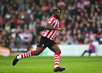 Lincoln City's John Akinde<br /> <br /> Photographer Andrew Vaughan/CameraSport<br /> <br /> The EFL Sky Bet League Two - Lincoln City v Macclesfield Town - Saturday 30th March 2019 - Sincil Bank - Lincoln<br /> <br /> World Copyright © 2019 CameraSport. All rights reserved. 43 Linden Ave. Countesthorpe. Leicester. England. LE8 5PG - Tel: +44 (0) 116 277 4147 - admin@camerasport.com - www.camerasport.com