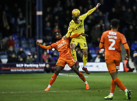 Fleetwood Town's Ryan Taylor competing with Luton Town's Pelly Ruddock<br /> <br /> Photographer Andrew Kearns/CameraSport<br /> <br /> The EFL Sky Bet League One - Luton Town v Fleetwood Town - Saturday 8th December 2018 - Kenilworth Road - Luton<br /> <br /> World Copyright &copy; 2018 CameraSport. All rights reserved. 43 Linden Ave. Countesthorpe. Leicester. England. LE8 5PG - Tel: +44 (0) 116 277 4147 - admin@camerasport.com - www.camerasport.com