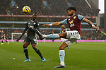Tyrone Mings of Aston Villa clears the ball during the Premier League match against Leicester City at Villa Park, Birmingham. Picture date: 8th December 2019. Picture credit should read: Darren Staples/Sportimage