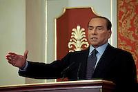 Lesmo (MI): Silvio Berlusconi durante la conferenza stampa a Villa Gernetto a Lesmo ..Lesmo (Milan): Silvio Berlusconi during a press conference at Villa Gernetto in Lesmo near Milan