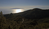 View of three canarian Islands from Mount Teide, Las Cañadas national park, Tenerife, Canary Islands